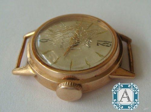 Часы `Slava`, женские, золото 583 пробы. / Antiqboard